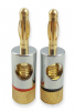 Premium Gold 4mm Banana Plugs for Speaker Connections